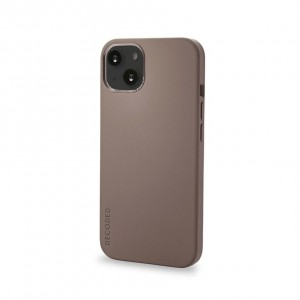 Decoded Silicone Backcover iPhone 13 Dark Taupe