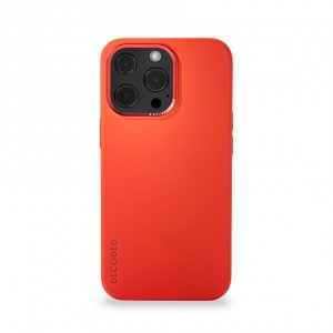 Decoded Silicone Backcover iPhone Pro Max Brick Red