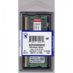 KINGSTON 32GB DDR4 SO-DIMM PC4-21300, 2666Mhz