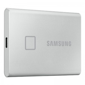 SAMSUNG 1TB Touch Portable SSD T7 silber USB 3.2