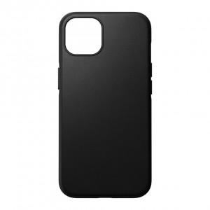 Nomad Modern Case Black Leather MagSafe iPhone 13