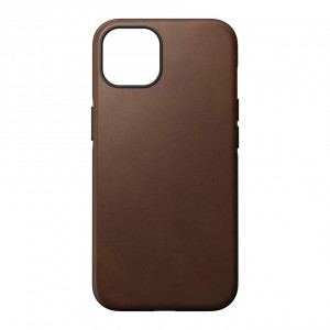 Nomad Modern Case Rustic Brown Leather MagSafe iPhone 13