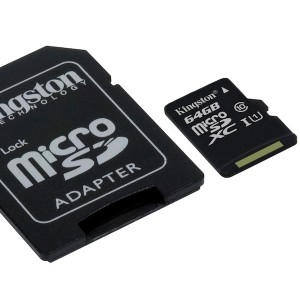 KINGSTON 64GB microSDHC Canvas Select 80R CL10 UHS-I