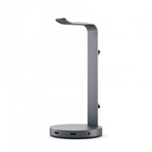 Satechi Aluminum Headphone Stand Hub space grey