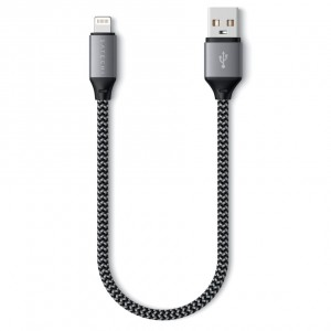 Satechi USB-A to Lightning Short Cable 25 cm space gray