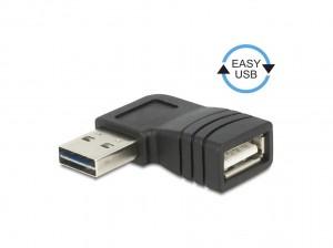 Delock Adapter EASY-USB 2.0-A Stecker > USB 2.0-A Buchse gewinkelt links / rechts