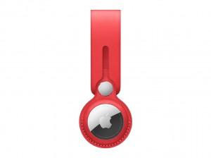 Apple AirTag Anhänger aus Leder (rot)