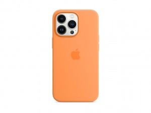 Apple Silikon Case iPhone 13 Pro mit MagSafe (gelborange)