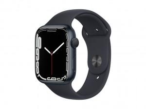 AppleWatch S7 Aluminium 45mm Mitternacht (Sportarmband mitternacht)