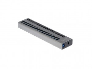 Delock USB 3.0 Hub mit 16 Ports, einzeln schaltbar