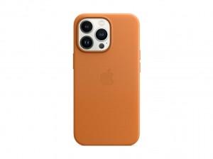 Apple Leder Case iPhone 13 Pro mit MagSafe (goldbraun)