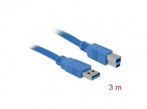 Delock Kabel USB 3.0 Typ-A Stecker > USB 3.0 Typ-B Stecker 3 m blau
