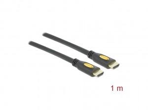Delock Kabel High Speed HDMI mit Ethernet - HDMI-A Stecker > HDMI-A Stecker 4K 1,0 m