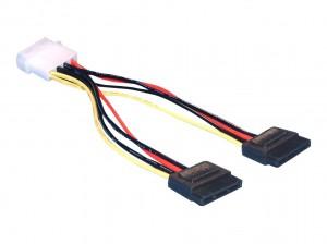 Delock Kabel Power SATA HDD 2x > 4pin Stecker