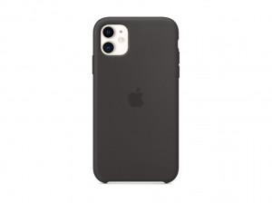 Apple Silicon Case iPhone 11 (schwarz)