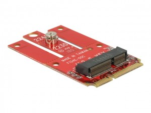 Delock Adapter Mini PCIe > M.2 Key E Slot