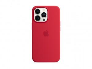 Apple Silikon Case iPhone 13 Pro mit MagSafe (rot)