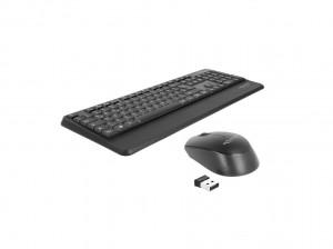 Delock USB Tastatur und Maus Set 2,4 GHz kabellos schwarz (Handballenauflage)