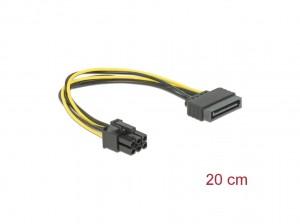 Delock Kabel Power SATA 15 Pin > 6 Pin PCI Express