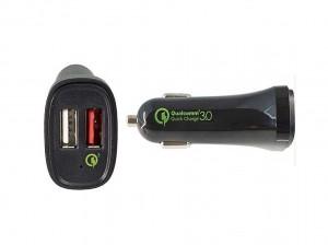 Dinic KFZ Quick Charger 3.0 12V 2x USB schwarz