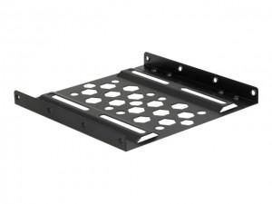 """Delock Aluminium Einbaurahmen 2.5"""" zu 3.5"""" schwarz"""