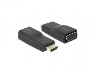 Delock Adapter HDMI Stecker > VGA Buchse schwarz