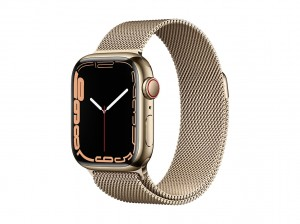 AppleWatch S7 Edelstahl 41mm Cellular Gold (Milanaise gold)