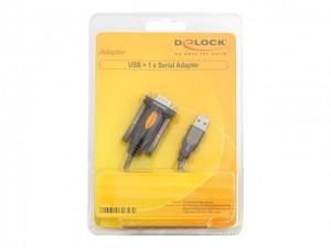 Delock Adapter USB 2.0 Typ-A > 1 x Seriell DB9 RS-232