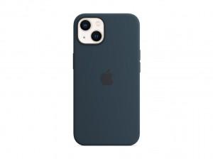 Apple Silikon Case iPhone 13 mit MagSafe (abyssblau)