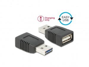 Delock Adapter EASY-USB 2.0-A Stecker zu USB 2.0-A Buchse nur Ladefunktion