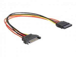DELOCK Kabel Power SATA 15 Pin Stecker > SATA 15 Pin Buchse Verlängerung 30 cm