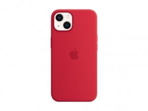 Apple Silikon Case iPhone 13 mit MagSafe (rot)