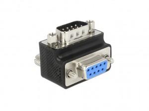 Delock Adapter Sub-D 9 Pin Stecker > Buchse 90