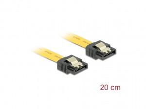 Delock SATA 6 Gb/s Kabel 20 cm gelb