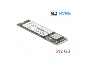 Delock SSD M.2 NVMe Key M 2280 - 512GB PCIe