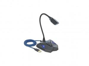 Delock Desktop USB Gaming Mikrofon mit Schwanenhals und Mute Button