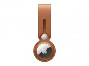 Apple AirTag Anhänger aus Leder (sattelbraun)