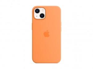 Apple Silikon Case iPhone 13 mit MagSafe (gelborange)