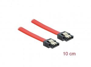 Delock SATA 6 Gb/s Kabel 10 cm rot