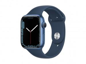 NEU  AppleWatch S7 Aluminium 45mm Blau (Sportarmband abyssblau)