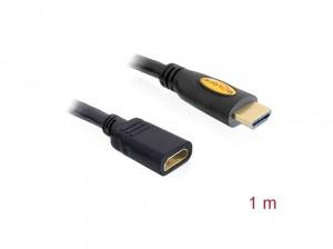 Delock Verlängerungskabel High Speed HDMI mit Ethernet HDMI A Stecker > HDMI A Buchse 1 m