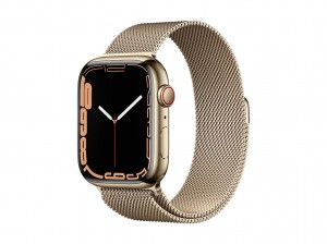 AppleWatch S7 Edelstahl 45mm Cellular Gold (Milanaise gold)