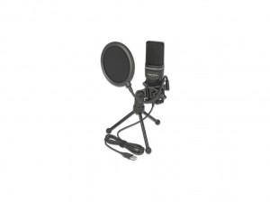 Delock USB Kondensator Mikrofon Set - für Podcasting, Gaming und Gesang