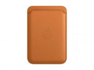 Apple Leder Wallet iPhone mit MagSafe (golbraun)