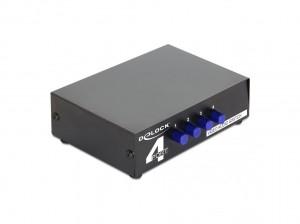 Delock Umschalter Audio+Video 4-Port (Chinch) manuell bidirektional