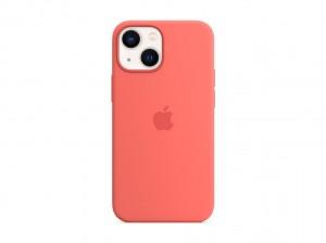 Apple Silikon Case iPhone 13 mini mit MagSafe (pink pomelo)