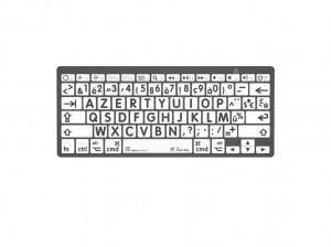 LogicKeyboard XL-Print Black on White BT fr. (Mac)