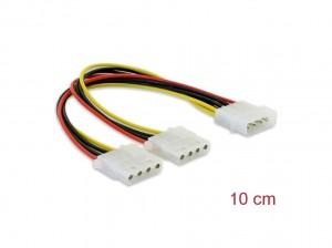 Delock Y- Kabel Stromversorgung > 2x 4pin Molex