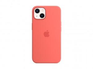 Apple Silikon Case iPhone 13 mit MagSafe (pink pomelo)