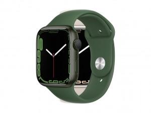 AppleWatch S7 Aluminium 45mm Grün (Sportarmband klee)